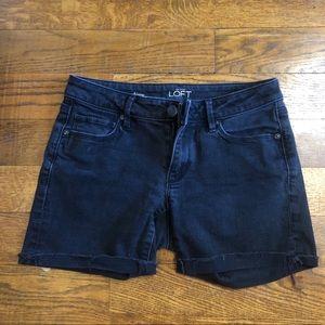 Ann Taylor LOFT Black Denim cutoff jean shorts